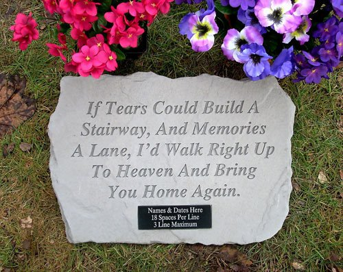"""Customized """"If Tears Could Build A Stairway"""" Memorial Stone For Sale"""