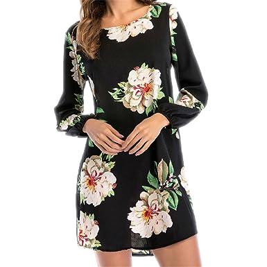 DRESS Summer New Floral Print Chiffon Boho Beach Casual Long Sleeve Sexy Backless Party Dresses Vestidos