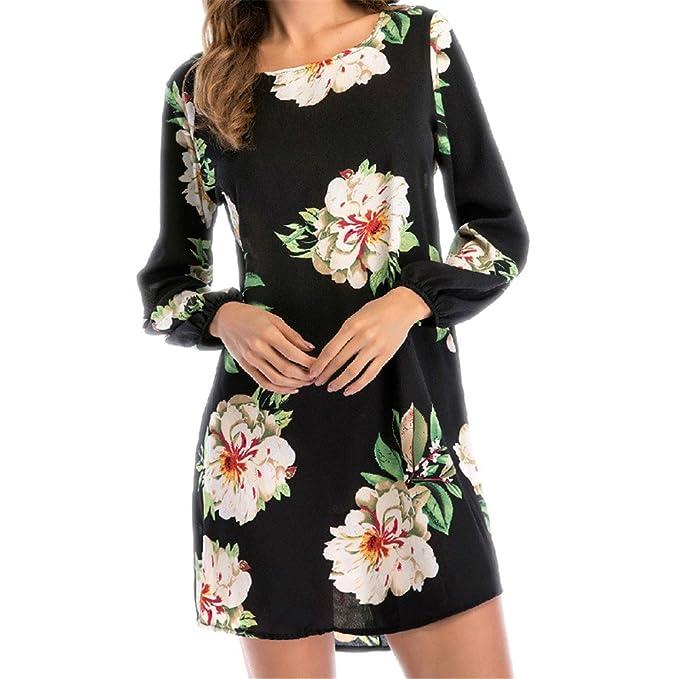b3e3caf1543 DRESS Summer New Floral Print Chiffon Boho Beach Casual Long Sleeve Sexy  Backless Party Dresses Vestidos