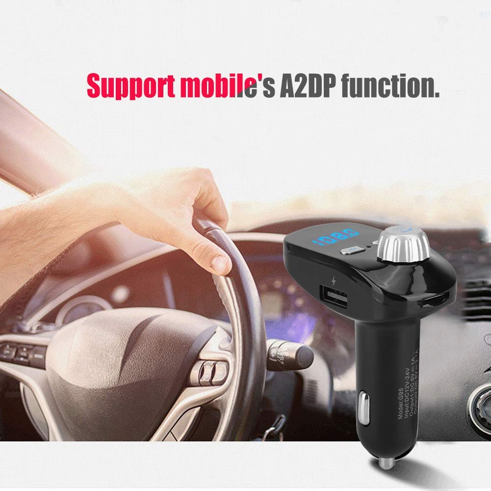 Mugast Car MP3 Player,G95 Car MP3 FM Full-Band Wireless Transmission Bluetooth Player Support Mobile's A2DP Function Bluetooth Wireless Hands Free Phone Calling by Mugast (Image #2)
