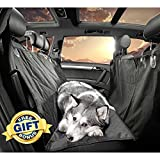 Gudaco Pet Car Seat Cover – Waterproof Dog Car Seat Covers for Well Protected Cars & Comfortable Pet – Use as Car Hammocks for Pets or Back Seat Covers for Dogs – Quilted, Non-Slip Design