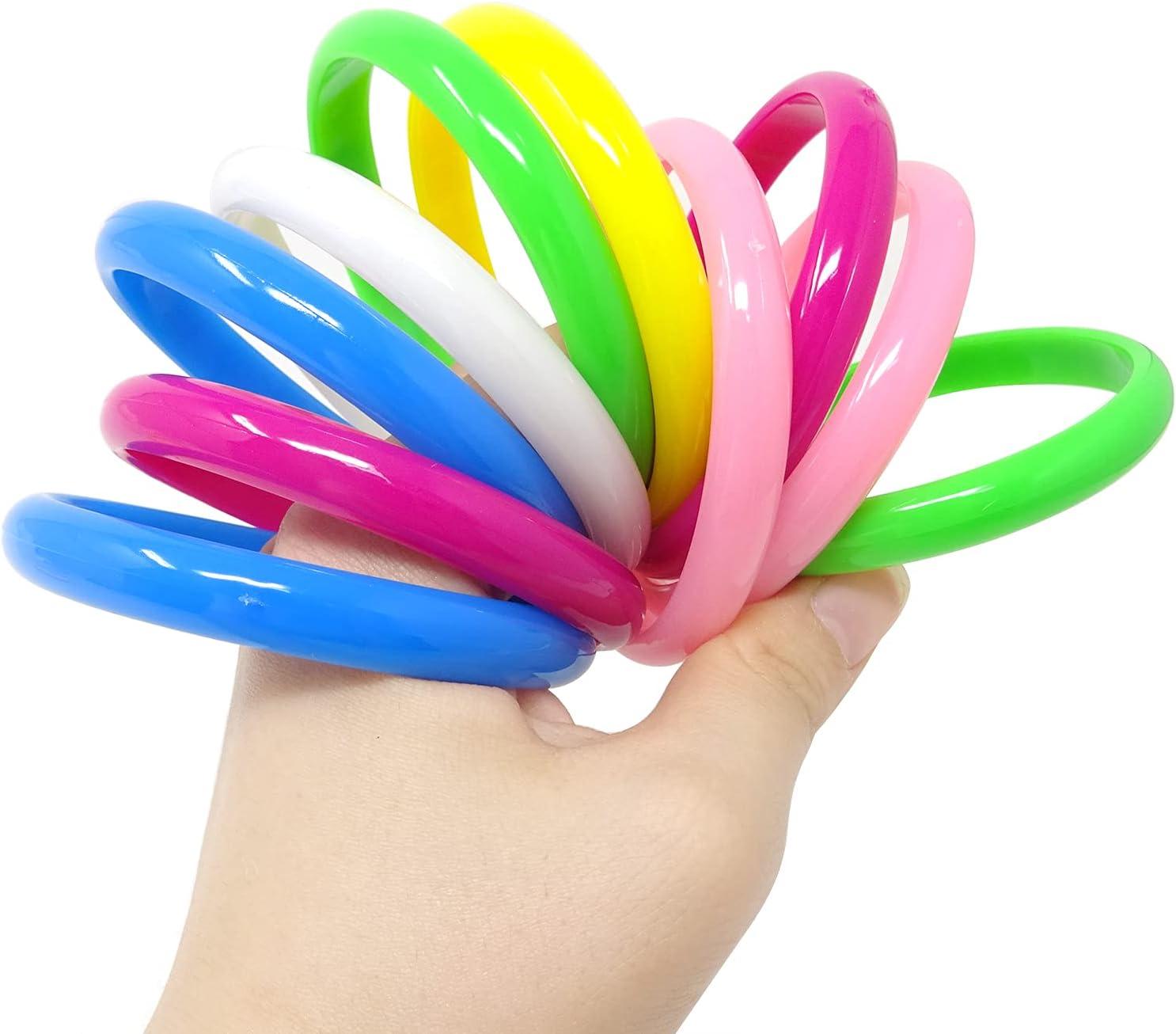 6 Color Honbay 12PCS Cute Candy Color Plastic Bangle Bracelets Party Favors for Party Decorations Indoor Outdoor