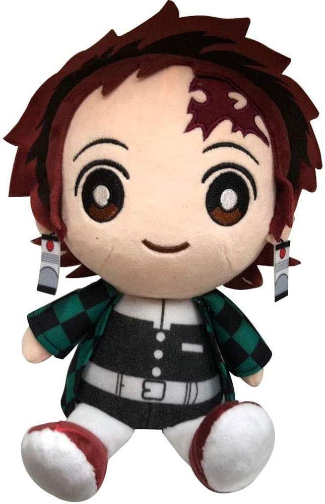 HHtoy 25cm Kamado Tanjirou muñeca de la Felpa del Demonio Asesino del Anime Figuras de Dibujos Animados de Marionetas de Peluche Suave Juguete Playmate de cumpleaños 3 niños