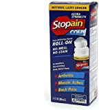 Stopain Cold Pain Relieving Liquid Roll-On Extra Strength 3.0 oz. (Quantity of 4)