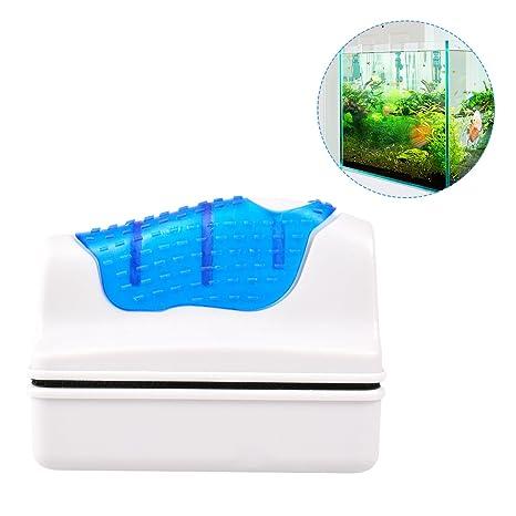 TankerStreet Limpiador Magnética del Tanque de Pescados, Magnético Flotante Acuario Pecera de Cristal Algas Cepillo