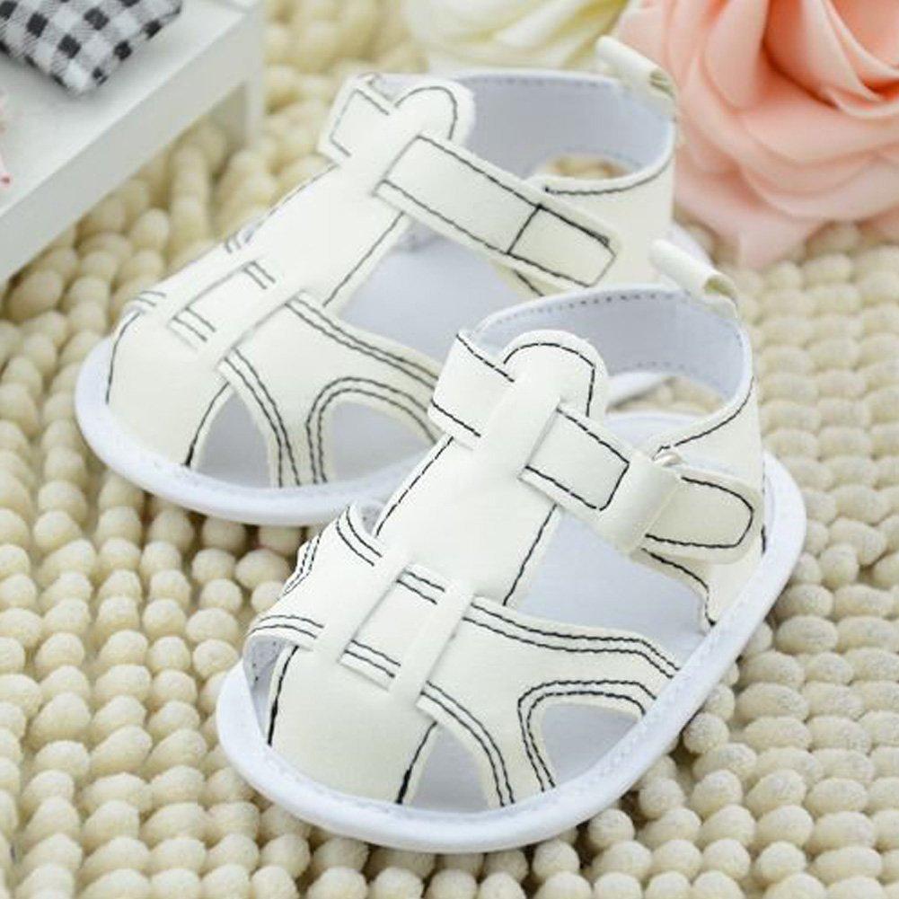 Easydeal Infant Baby Moccasins Soft Sole Anti-Slip Summer Prewalker Toddler Sandals