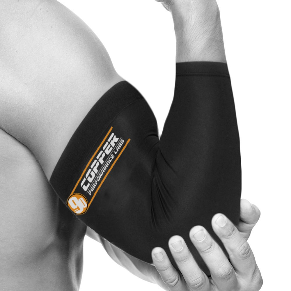 Copper Performance Labs Recovery Elbow Brace - Highest Copper Content GUARANTEED & Purest Copper - Ultra Lightweight Sleeve for Injury Recovery (Medium) by Copper Performance Labs   B01E8UGQMI