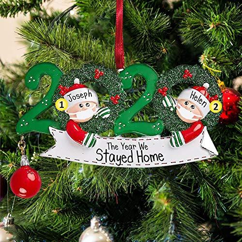 Blaward Personalized Name Christmas Ornament 2-7 Family Members, 2020 Survivor Family Customized Christmas Tree Hanging Decorating Kit, Creative DIY Gift Decorative