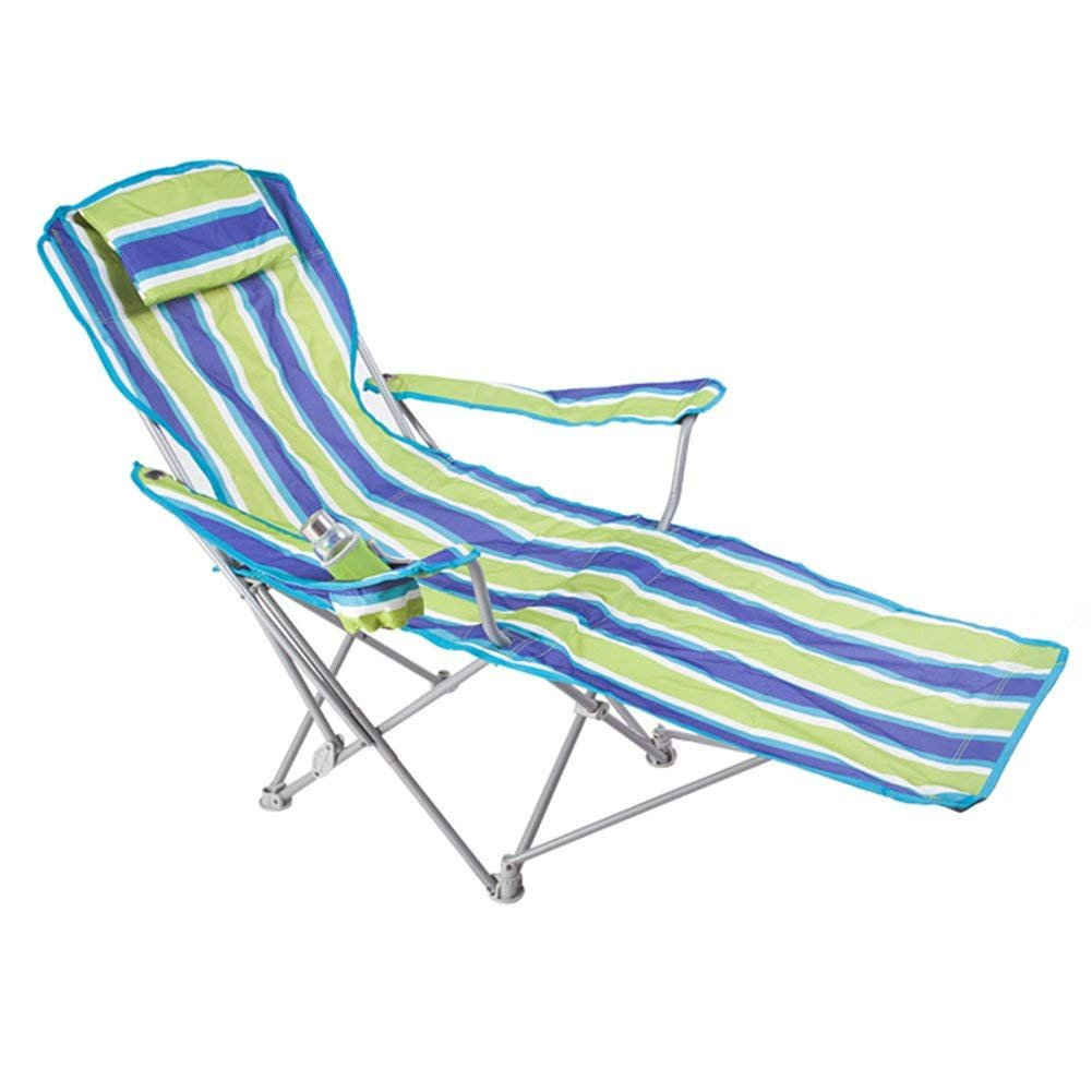 WJJH Folding Sun Lounger Sedia da giardino pieghevole Sedia da giardino reclinabile con funzione pieghevole Style-1