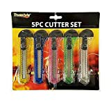 Best ATB Razor Knives - 5 Pc Retractable Cutter Set Razor Blade Utility Review