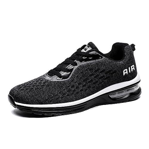 ZOEASHLEY Herren Damen Laufschuhe Luftpolster Schuhe Light Atmungsaktiv Outdoor Turnschuhe mit Dämpfung Gr.37 46