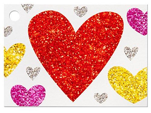 [해외]반짝이는 하트 테마 기프트 카드 (6 팩) 3 ~ 3 × 4 \\ / Glittering Hearts Theme Gift Cards (6 Pack ) 3-34x2-34