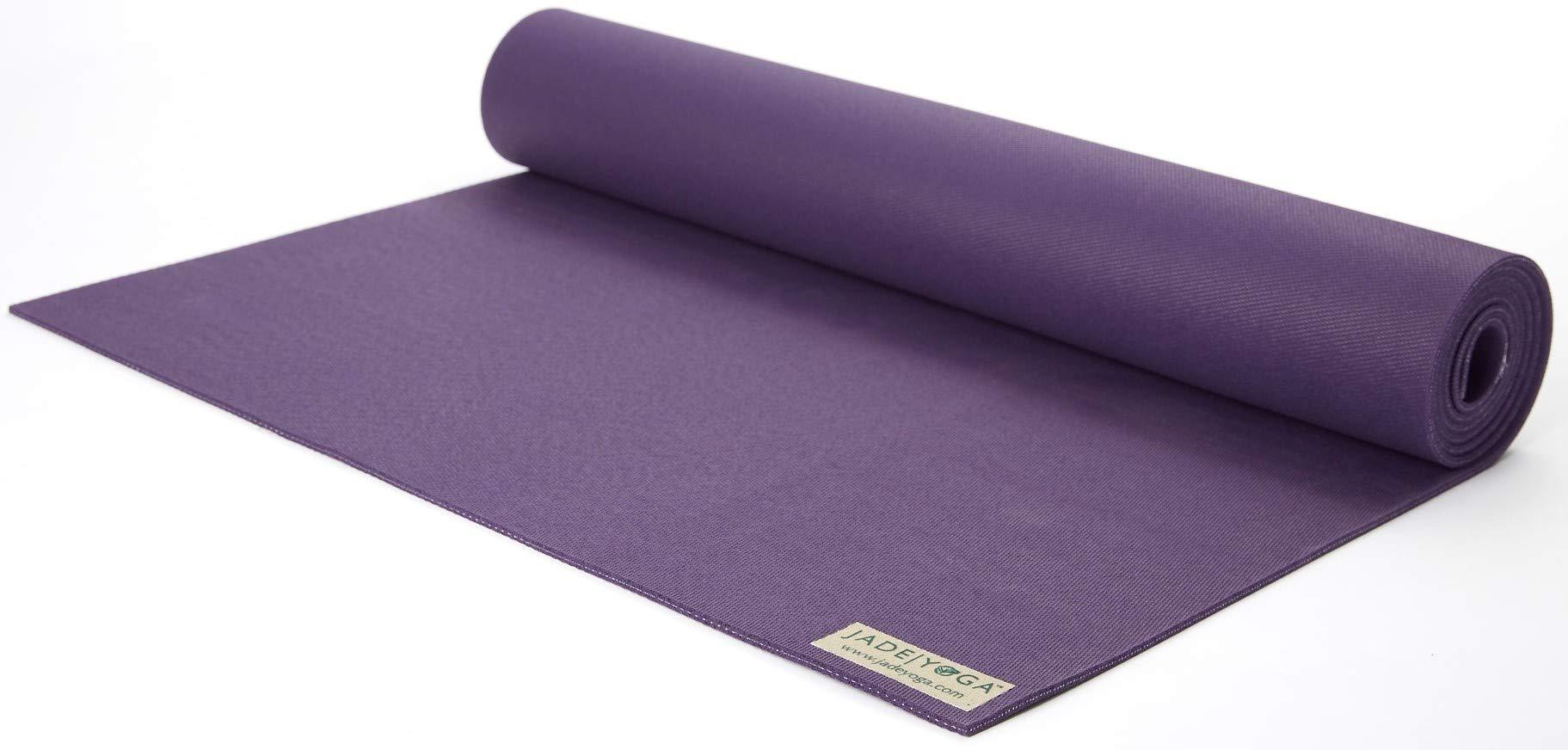 Jade 68-Inch by 1/8-Inch Travel Yoga Mat (Purple)