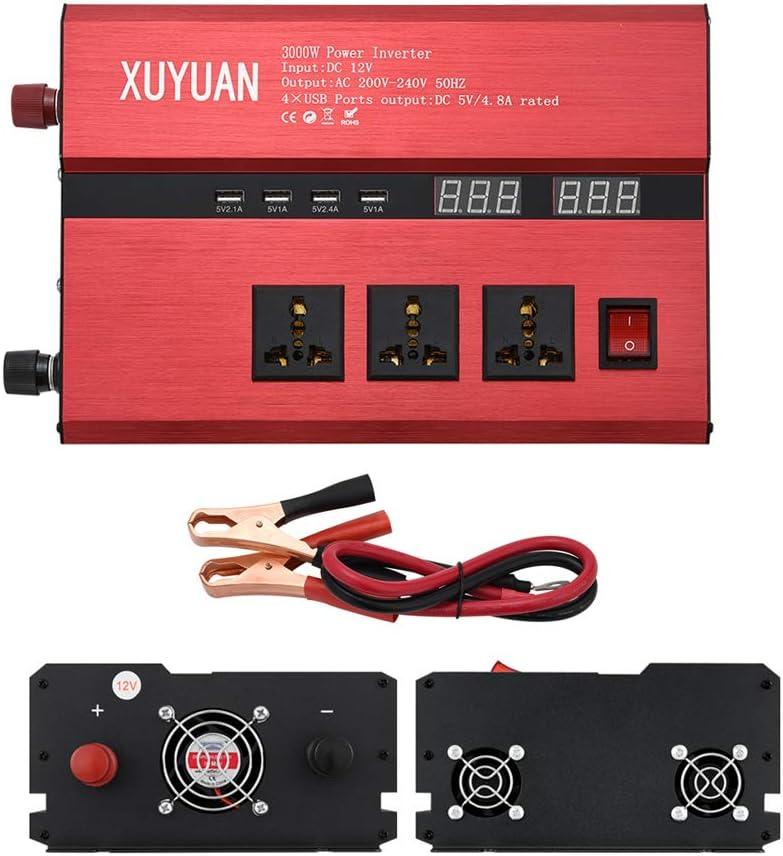 Power Inverter 3000 Watt 12V DC a 110V / 220V inversor del coche ...