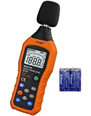 Decibel Meter, VLIKE Sound Level Meter dB Meter Measuring from 30 dB to 130 dB with A/C Mode (Batteries not Include)