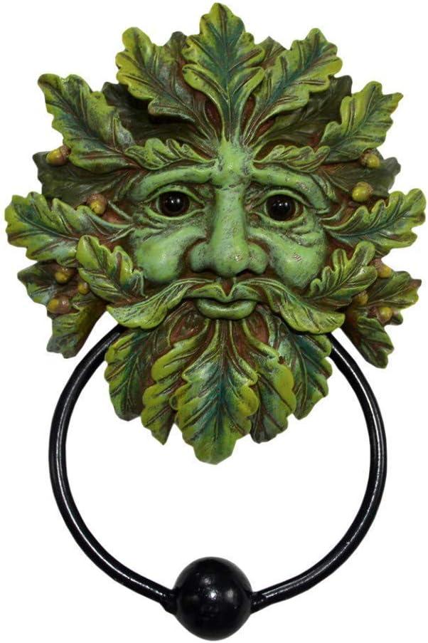 Nemesis Now Door Knocker 20cm Green Man-Aldaba (20 cm), Color Verde, polirresina, Talla única
