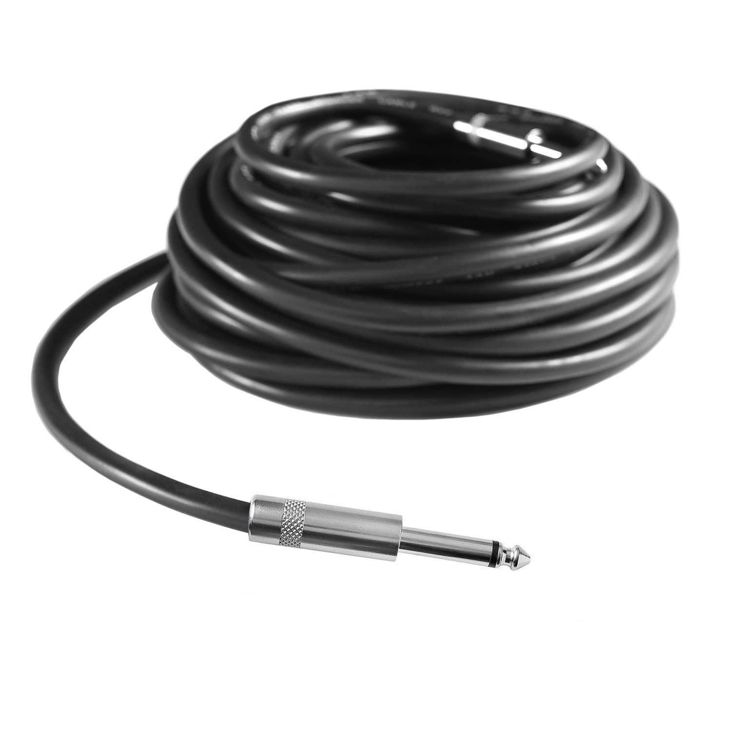 Yoico 2Pcs 100 Feet Professional 1//4 to 1//4 Speaker Cables Pair 100 ft 12 Gauge 1//4 Male Inch Audio Amplifier Connection Heavy Duty Cord Wire