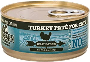 Redbarn Pet Products 24 Cans Turkey Pate Grain-Free Cat Food, 5.5 Ounces each