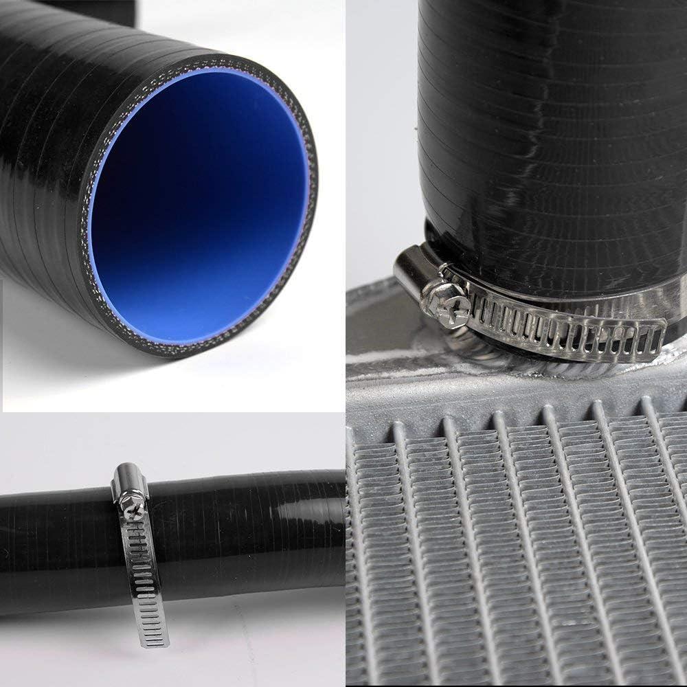 Black Silicone Radiator Coolant Tube Kit Clamps For Yamaha YZ-450 WR450 YZ450F 2003-2007 2004 2005 2006 4pcs