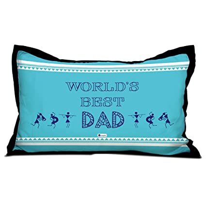 Indigifts Father Birthday Gifts Worlds Best Dad Quote Warli Art Inspired Pattern Blue Pillow Cover 17x27