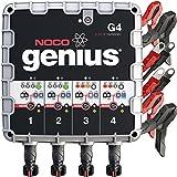 NOCO Genius G4 6V/12V 4.4A 4-Bank UltraSafe Smart Battery Charger