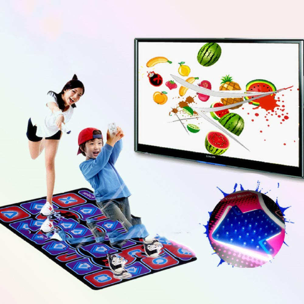 QXMEI Projection Sense Massage Dance Mat Double Thick Computer TV Dual-use Game Blanket