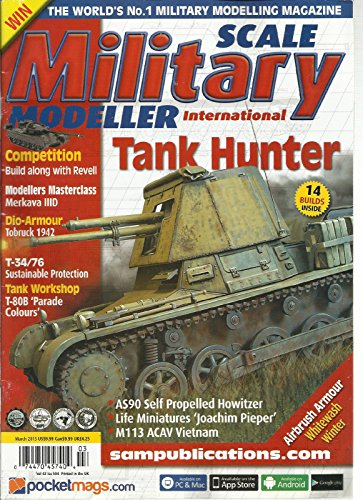 SCALE MILITARY MODELLER INTERNATIONAL, MARCH, 2013 VOL. 43 (TANK HUNTER * ()