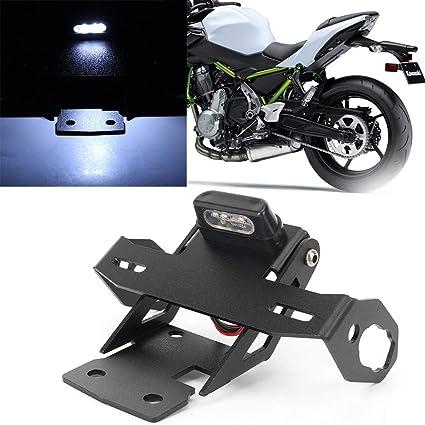 GZYF 1 soporte para matrícula de motocicleta con luz trasera ...