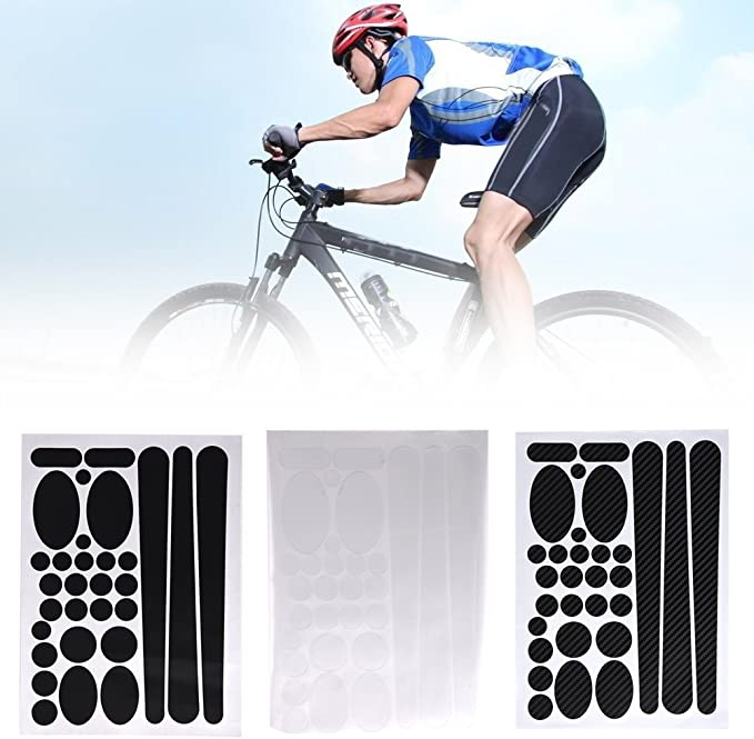 MTB Bike Chain Stay/&Frame Scratch Protector Bicycle Paster Stickers O8J0