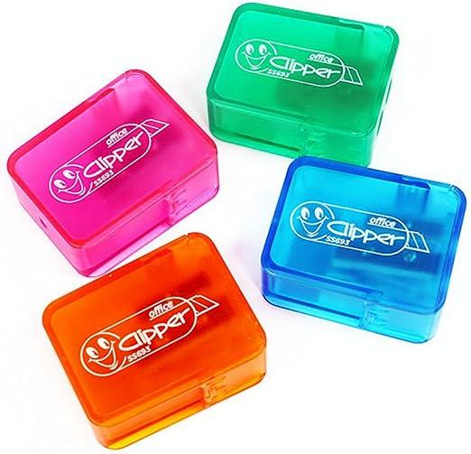 oyfel sacapuntas transparente caja con Reservoir Kawaii Mignon rosa de plástico para niños niño niña Ecole 1 pcs Color aleatorio: Amazon.es: Hogar