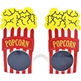 Popcorn Shape Eyewear Novelty Funny Eyeglasses Party Sunglasses for Carnival Masquerade Trick Party Costume Props