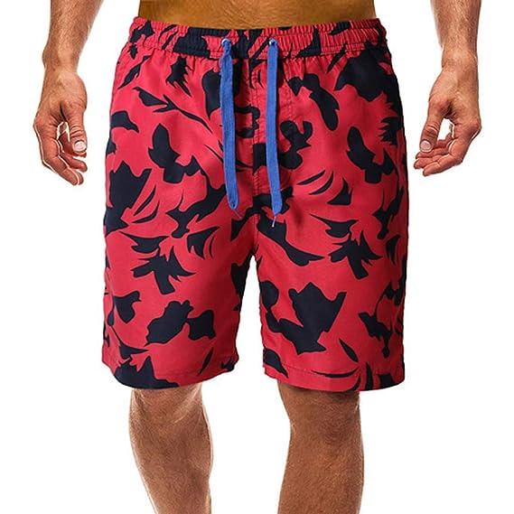 Men Beach Herren Badehose Baumwolle Shorts Pocket Surf Brief Bademode Size S-2XL