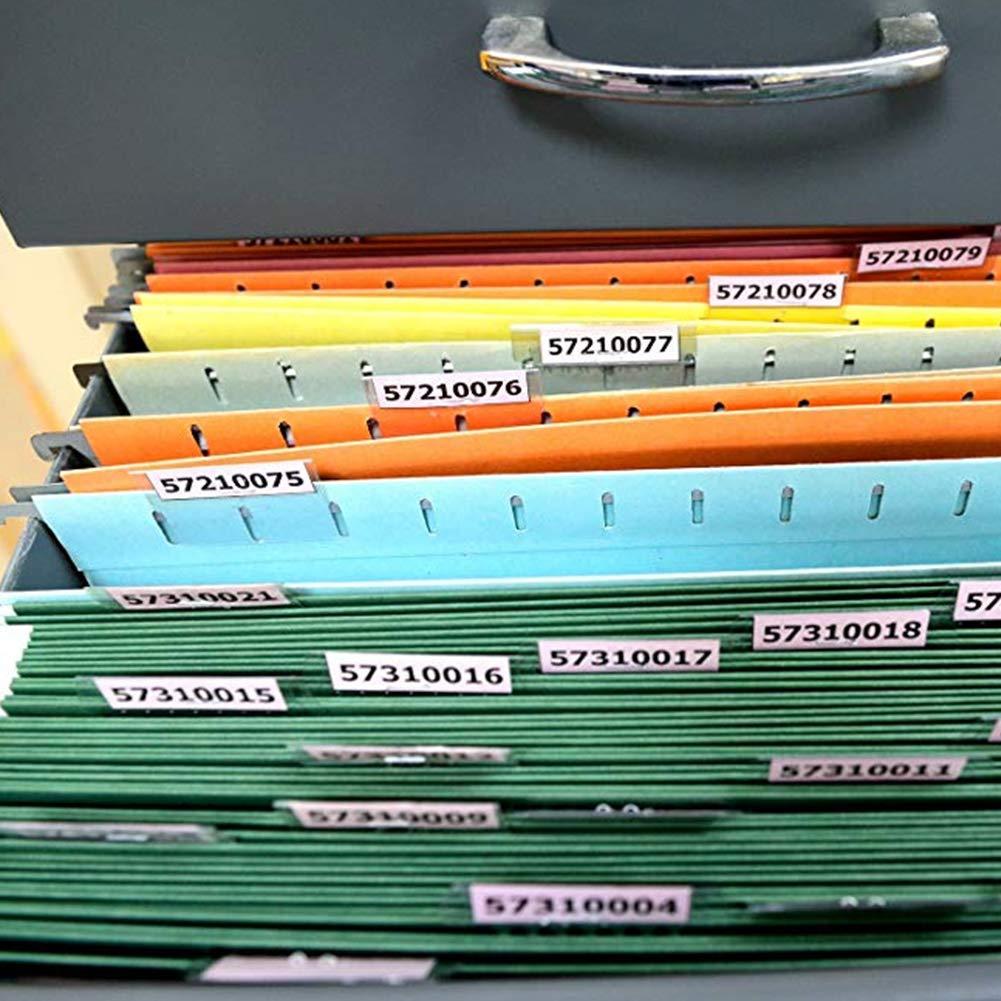 facili da leggere Set di 50 linguette e inserti per cartelle sospese 100 Runfon inserti in PVC per etichette accessori per la classificazione di cartelle