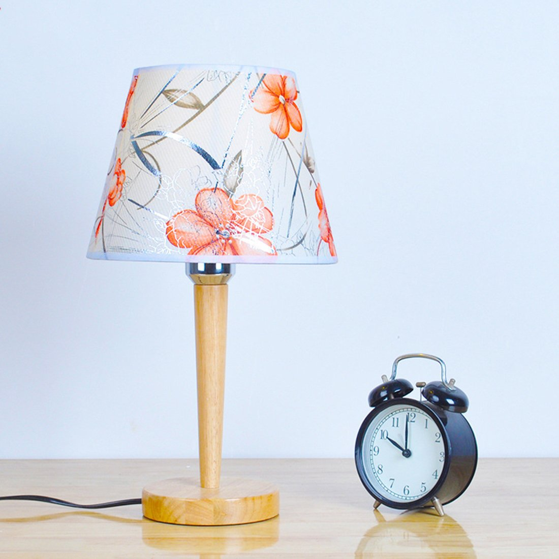 Amazon.com: PINCHU Modern Simple Wooden Table Lamp Bedroom ...