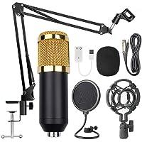 Docooler BM800 Professional Suspension Microphone Kit Studio Live Stream Broadcasting Recording Condenser Microphone Set