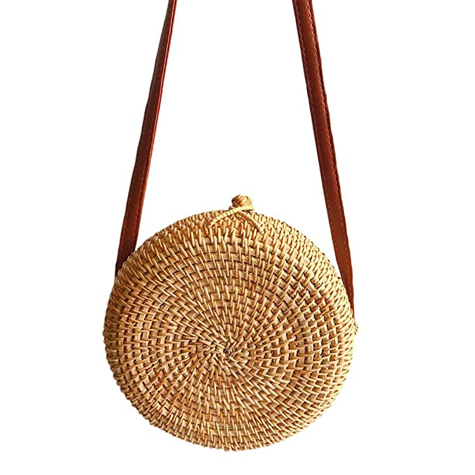 1919944329 Ginli borsa,Borse Donna Zaino Donna Borsa a Tracolla Rotonda con Rattan di  Paglia Intrecciata a Mano a Forma di Cerchio di Bali: Amazon.it:  Abbigliamento