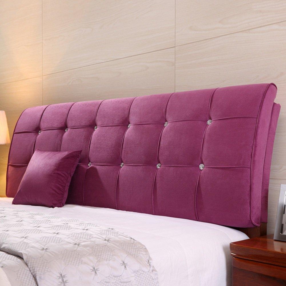 QIANGDA クッション ベッドの背もたれ ヘッドボードマット ビッグバック ベッドサイドソフトバッグ 寝具 ラジアン単位 ダブルベッドルーム ソリッドカラーの5種類、 6サイズ オプション ( 色 : Violet , サイズ さいず : 150 x 9 x 62cm ) B079Z8GS6Y 150 x 9 x 62cm|Violet Violet 150 x 9 x 62cm