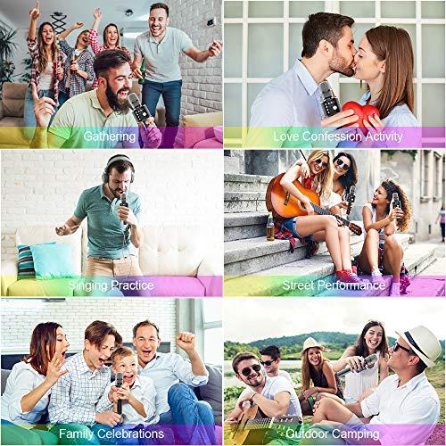 Bluetooth Microfono Karaoke, Xpreen Microfono Bambini Senza Fili Wireless Portatile Macchina da Karaoke per Android/iPhone/iPad/Sony/PC Smartphone
