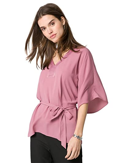 4d5305496afb7d LE CHÂTEAU V-Neck Poncho Blouse at Amazon Women s Clothing store
