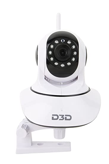 Buy D3D Wireless HD IP Wifi CCTV Indoor Security Camera (Support upto 128  GB SD card) (White Color) Model D8810 Online at Low Price in India  4bc5414fec