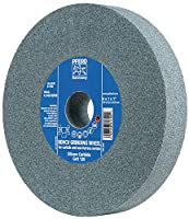 "Pferd 61785 Bench Grinding Wheel, Silicon Carbide, 6"" Diameter, 3/4"" Thick, 1"" Arbor Hole, 60 Grit, 4140 Maximum RPM"