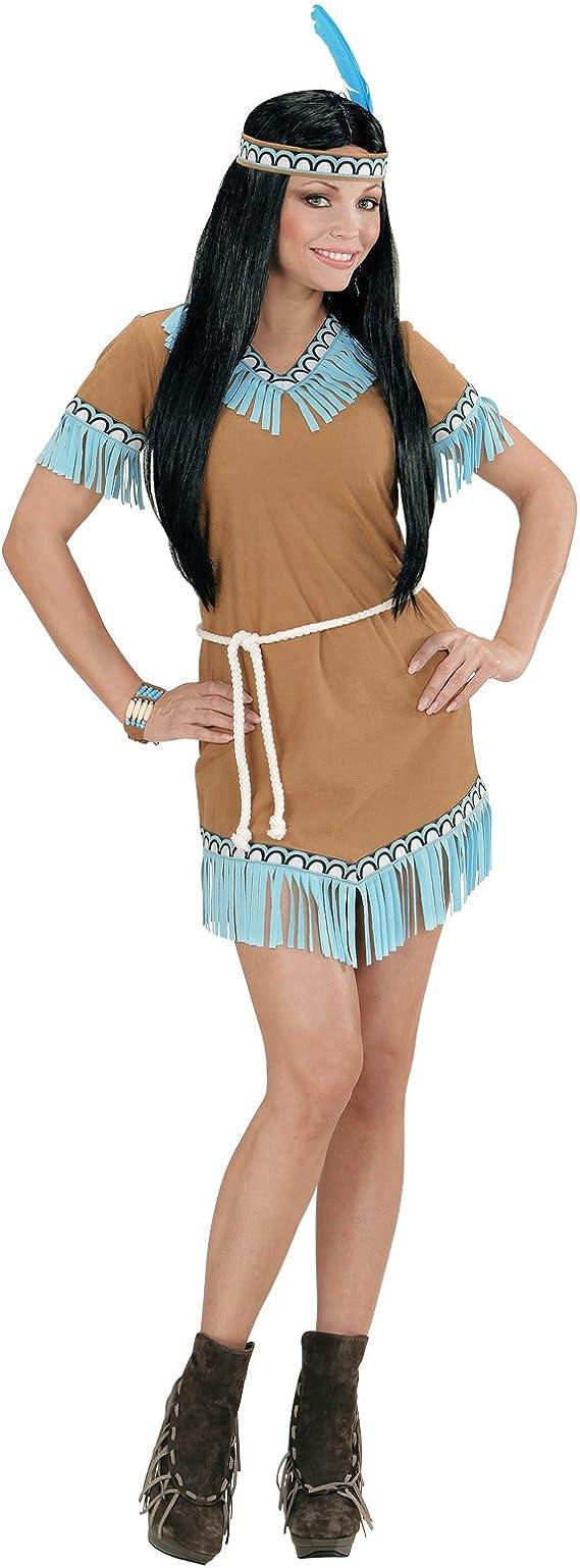Donna di Marrone Costume indiana per carnevale Donna Costume da donna vestito INDIANO NUOVO