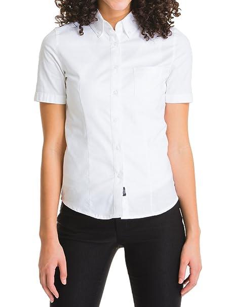 5031871e Amazon.com: Lee Uniforms Junior Short Sleeve Stretch Oxford Shirt-White:  Clothing