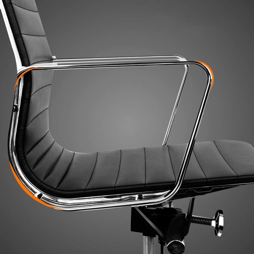 ZZHZY BBGS kontorsskrivbordsstol med metallbas, mitten av ryggen ergonomisk dator skrivbord uppgift stol med armar, hjul justerbar svängbar (färg: G) D