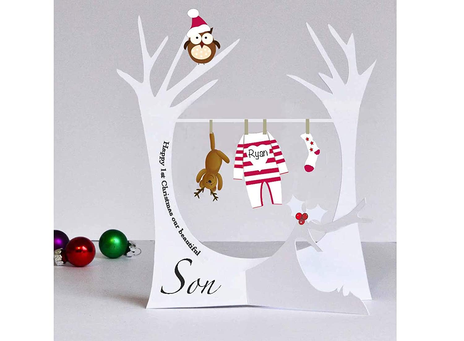 Personalised Christmas Card for Son Daughter Nephew Niece Grandson Granddaughter