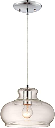 Westinghouse Lighting 6345800 One-Light Pendant Chrome Finish with Clear Glass