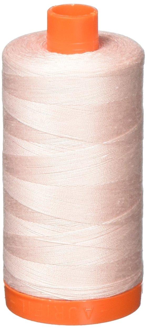 Aurifil A1050-2410 Solid 50W 1422 yd Pale Pink Mako Cotton Thread Aurifil USA