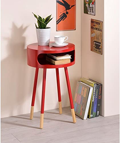 Major-Q Wooden Round End Table