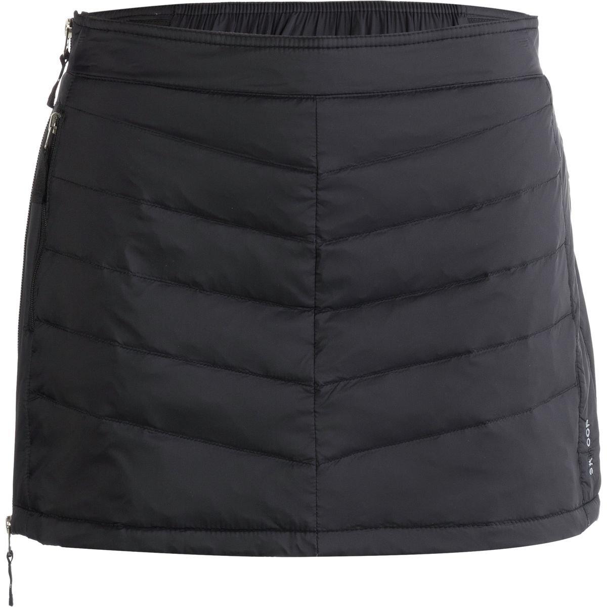 Skhoop Women's Mini Down Skirt, Black, Medium
