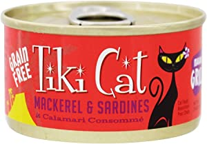 Tiki Cat Makaha Grill Mackerel And Sardines In Consomme 2.8 Ounce Cans/Pack Of 12